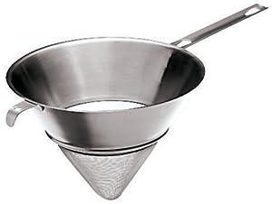 Paderno World Cuisine 7-7/8-Inch Double Mesh Bouillon Strainer, Stainless Steel