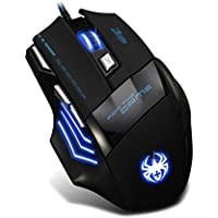 Franterd 7 Button LED Optical USB Wired 5500 DPI Gaming PRO Mouse