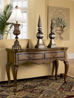 Cheap Mayfair Cherry Solid Hardwood Occasional Console Sofa Table (450-227)