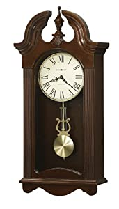howard miller malia wall clock with westminster chime cherry finish