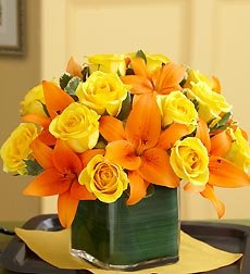 Flowers by 1800Flowers - Fall Rose and Lily Bouquet - Large