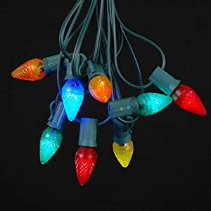 25 Foot C7 LED Outdoor Lighting Patio Christmas String Lights M