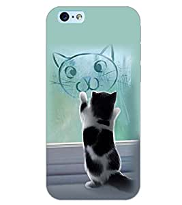 PrintDhaba CAT IMAGE D-6269 Back Case Cover for APPLE IPHONE 6S PLUS (Multi-Coloured)
