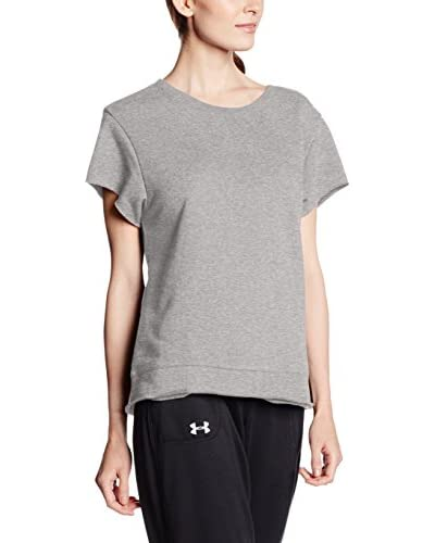 Under Armour Camiseta Técnica Studio Boxy Crew Blanco / Plata