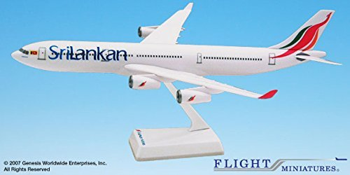 Sri Lankan (99-Cur)Airbus A340-300 Airplane Miniature Model Plastic Snap Fit 1:200 Part# AAB-34030H-020 (Airbus A340 Model compare prices)