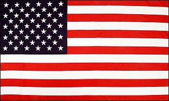 HUGE 8ft x 5ft USA United States America Material Flag