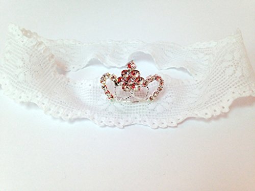 Laced Princess Tiara Headband In White (0-3Months) front-593325