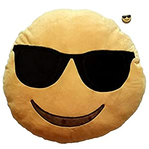 Amazon.com - iPhone Emoji Pillow - Sunglasses Face | FREE FAST