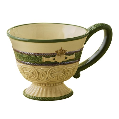 Grasslands Road Celebrating Heritage Celtic 11-Ounce Claddagh Symbol Tea Cup