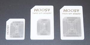 Nano SIM to Micro SIM, Nano SIM to Standard SIM and Micro SIM to Standard SIM Adapters - Converters for iPhone 5 - 4s - 4 - iPad 4 - 3 - 2 - Mini - White