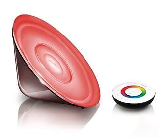 Philips LivingColors LED Gen 2 Conic, Noir Transparent, Luminaire d'ambiance design, télécommande incluse 6916665PH