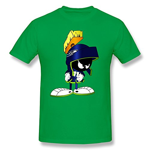 ZEKO Men's T Shirts Seattle Seahawks Marvin The Martian Size L ForestGreen