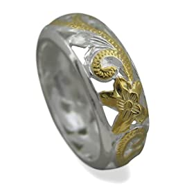925 Silver Filigree Scroll Band Ring Hawaiian Silver Jewelry