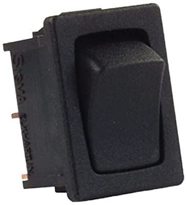 JR Products 12811-5 Mini Momentary On/Off 12V Black Switch - Pack of 5