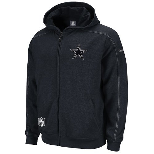 Reebok Dallas Cowboys Sideline Static Storm Hooded Sweatshirt Small