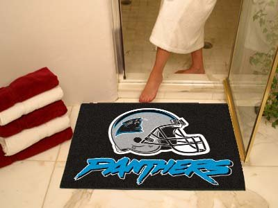 NFL Carolina Panthers Chromo Jet Printed Rectangular Area Rug Floor Mat 45