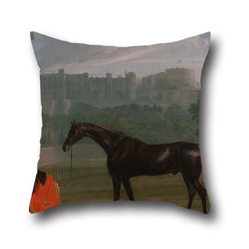 16 X 16 Inch / 40 By 40 Cm Oil Painting Edmund Bristow - Outside The Guard House At Windsor Throw Pillow Covers,2 Sides Is Fit For Gril Friend,seat,husband,bf,play Room,bedding