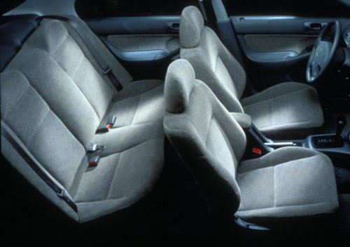 Toyota Camry Charcoal / Dark Gray Grey Full Set Premium Velour Double Stitching Seat Covers - 2 Front Low Back Bucket Seat Covers W/ 2 Front Headrest Covers, And 1 Rear 2Pc Bench Seat Cover W/ 3 Extra Headrest Covers A55 front-800827