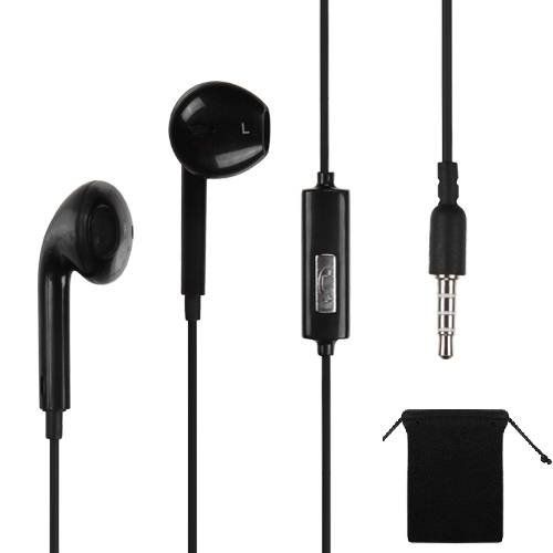 Black 3.5Mm Stereo Handsfree Headset Earbuds Earphones Headphones W/ Mic For Lg G2/ Exalt/ Enact/ Optimus G2/ Regard/ Spirit 4G/ Logic/ Rumor Reflex S/ F3/ Cosmos 3/ Lucid 2/ Nexus 4/ G/ 4X Hd + Carry Bag