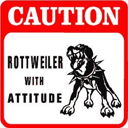 Amazon.com: CAUTION: ROTTWEILER PROTECTION dog warn sign: Home