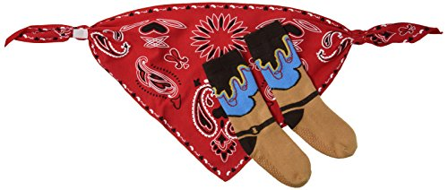 [Stephan Baby Wild West Collection Bandana Style Bib and Cowboy Boot Socks Set, 6-12 Months] (Rootin Tootin Cowgirl Costume)
