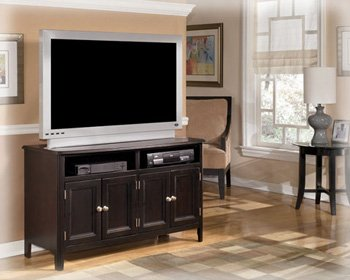 Almost Black Contemporary Carlyle Medium TV Stand