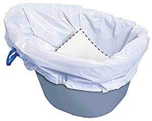 Carebag Commode Liner with Super Absorbent Pad, 20 bags