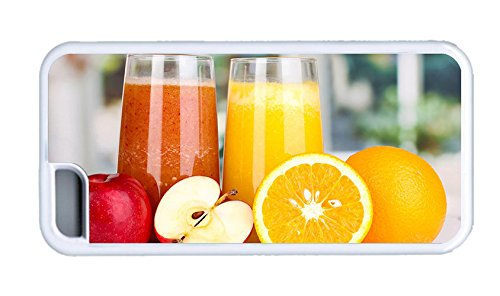 Cute Iphone Case Diy Cover Nutritious Juice Apples Oranges Tpu White For Apple Iphone 5C front-824240