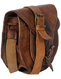 Swanky's Unisex Messenger Genuine Leather Women's Crossbody Sling Bag( Length 9 Inch X Width 3 Inch X Height 8...