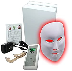 Carer(TM) 3 Color LED Mask Skin Rejuvenation Facial Mask Beauty Facial Peels Machine Daily Skin Care Home