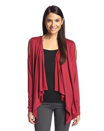 Kristy + Chloe Women's Cold Shoulder Drape Cardigan