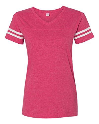LAT Sportswear Ladies Vintage Football T-Shirt. 3537 - Large - Vintage Hot Pink