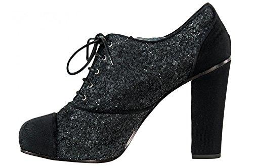 Scarpe donna DSQUARED francesine N.36 particolari glitter nere tacchi alti X1137