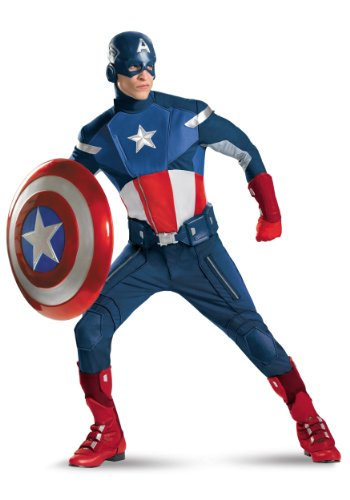 Disguise Mens Captain America The Avengers Theat Superhero Theme Party Costume