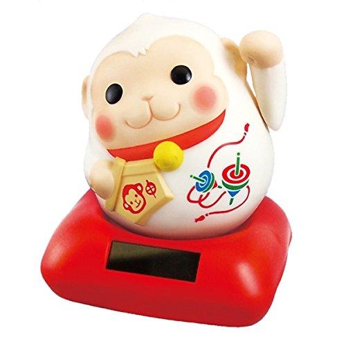申年限定 2016年の干支「ソーラー幸せ招き申(さる)」(白)