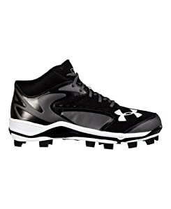 Under Armour Men's UA Yard Mid TPU Baseball Cleats 9 Black