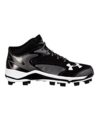 Under Armour Men's UA Yard Mid TPU Baseball Cleats 6.5 Black