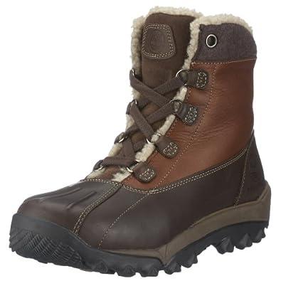 (疯抢)天木兰Timberland Men's Woodbury Shearling防水真皮新雪丽暖绒冬靴棕$80.36