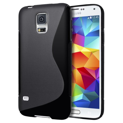 Samsung Galaxy S5 mini Case, Cimo [Wave] Premium Slim TPU Flexible Soft Case for Samsung Galaxy S 5 V mini (2014) - Black (Samsung Galaxy 5 Mini Case compare prices)