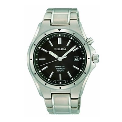 Seiko Men'S Ska493 Black Dial Casual Watch