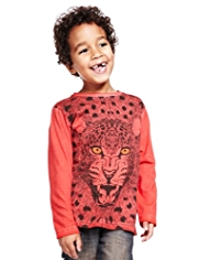 Pure Cotton Leopard Wave T-Shirt