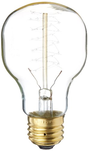 Heirlume Hl-8425Wpack1 Vintage Edison Bulb 25-Watt With Medium Base, 2.4-Inch X 4.3-Inch, 1-Pack