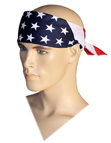 Costume Adventure Patriotic American Headband Flag Bandana Headband USA Bandana