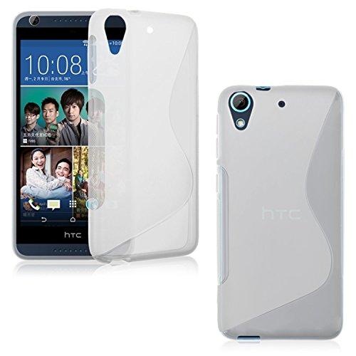 HTC Desire 728G Dual Sim Case, Ziaon (TM) Soft Silicone S Line Back Case Cover For HTC Desire 728G Dual Sim - Semi Transperant