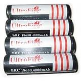 4pcs Ultrafire 18650 4000 mAh 3.7V Li-ion Rechargeable Battery