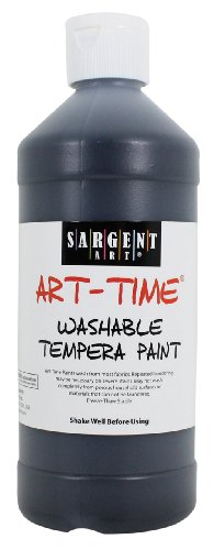 Sargent Art 22-3485 16-Ounce Art Time Washable Tempera, Black