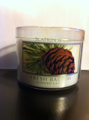 Bath & Body Works Slatkin & Co. Fresh Balsam 1.6 Oz Scented Candle
