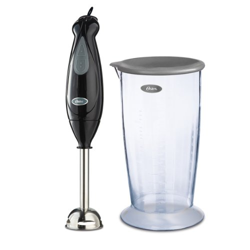 Oster 2-Speed Immersion Blender with Stainless Steel Blade and Bonus Measuring Cup, FPSTHB2615B