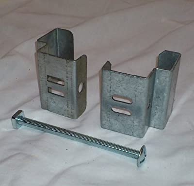 """Postfix Slotted Concrete Fence Post Brackets to Fit 4"""" x 4"""" Posts 4 SETS - Fix Anything to Concrete Posts Just Clamp On - NO Drilling!"""