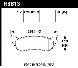 Hawk Performance HB613Z.589 Performance Ceramic Brake Pad